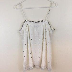 Ann Taylor Loft Swiss Dot Camisole size L